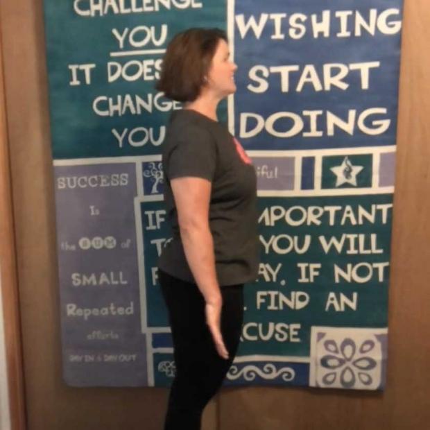 Jennifer Larson exercises