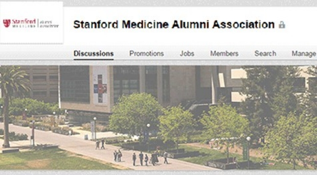 photo of the LinkedIn page for the Alumni Association
