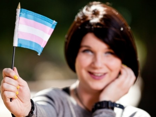 Transgender with flag