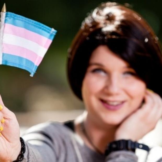 Transgender with flag