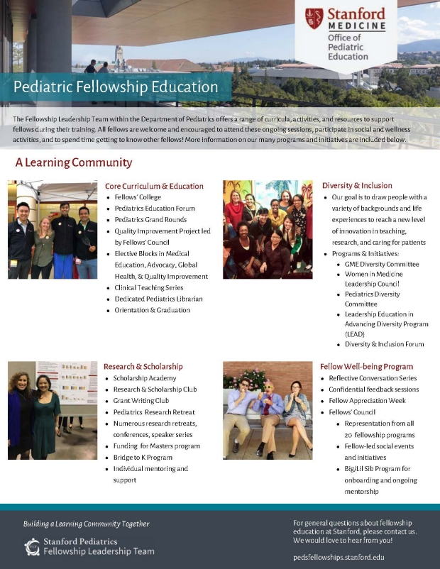 Dept of Peds Fellowship Resources 2019 Page 1