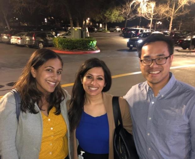 Nina, Nazia and Ian