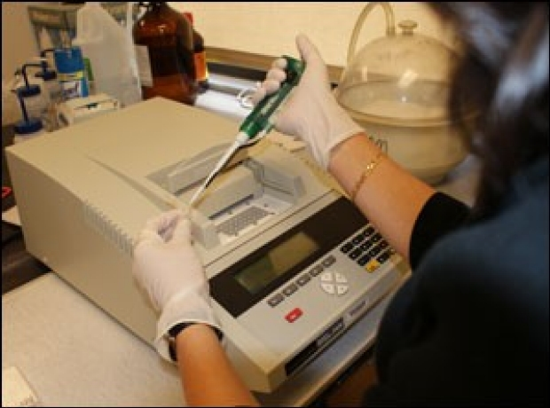 Image of a PCR machine in use