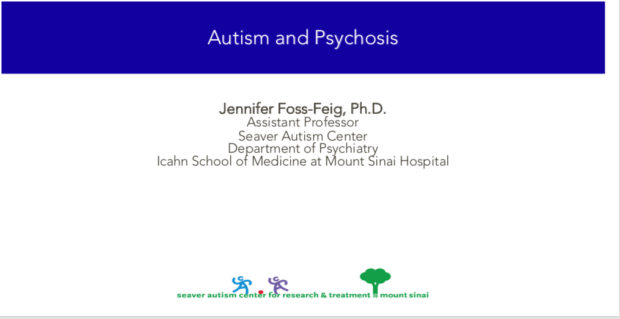 Autism and Psychosis First Slide