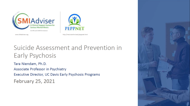 Suicide Assessment and Prevention in Early Psychosis, Tara Niendam, Ph.d.