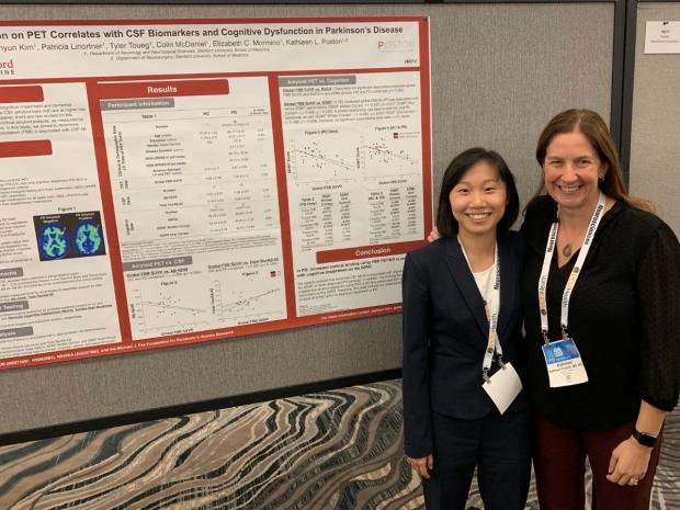 Dr. Poston & Jee Kim at the 2019 American Neurological Association (ANA) Annual Meeting