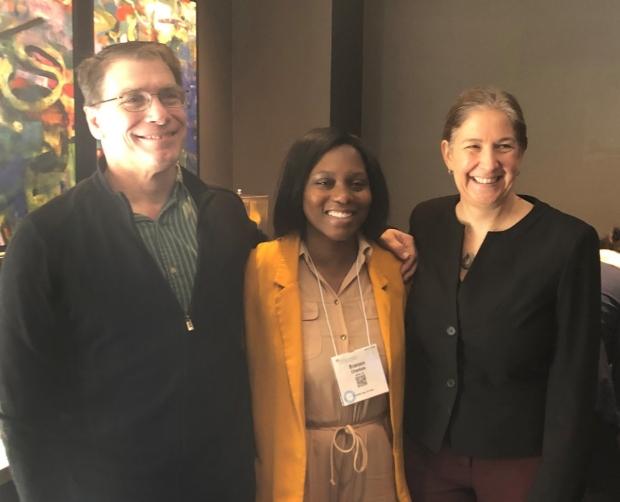AAN TRANSCEND Dr. Kathleen Poston Dr. Michael Schwarzschild with Mentee Dr. Chantale Branson.