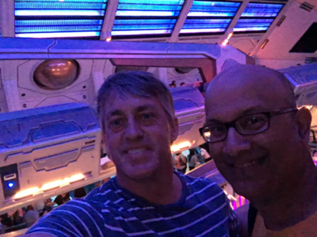 Professors-Reicherter-and-Joshi-researching-The-Stoke-on-Space-Mountain-Disneyland
