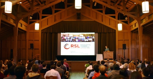 Photo of Kim Butts Pauly speaking at the 2017 Joint Retreat in Asilomar, CA
