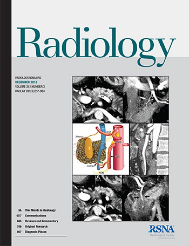 Research Featured on the Cover of the Journal Radiology