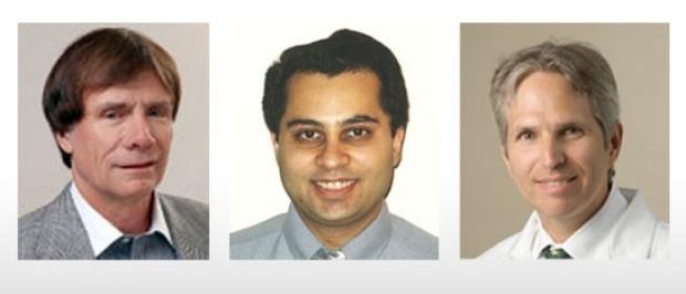 Photo of F. Graham Sommer, Shreyas Vasanwala, and Greg Zaharchuk