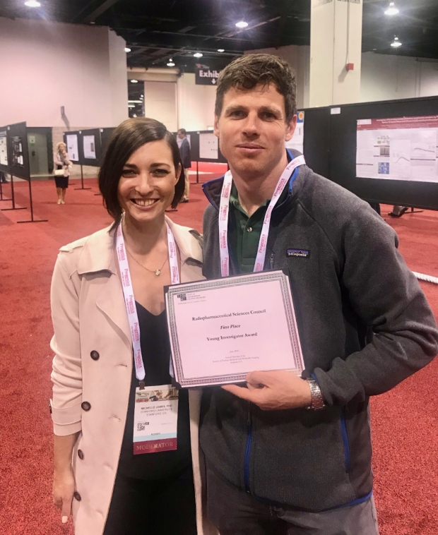 Dr. Michelle James with postdoc Marc Stevens
