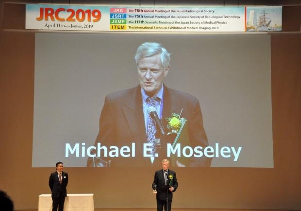 Photo of Michael Moseley at Japan Radiological Society 2019 meeting. Photo credit: JRC.