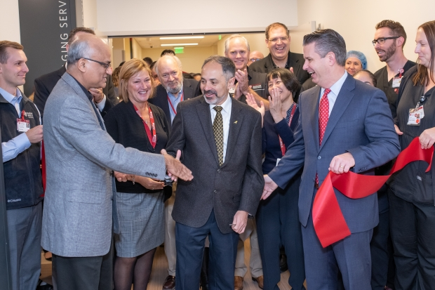 Chair and Members of Radiology Team Join New Stanford Hospital Ribbon Cutting