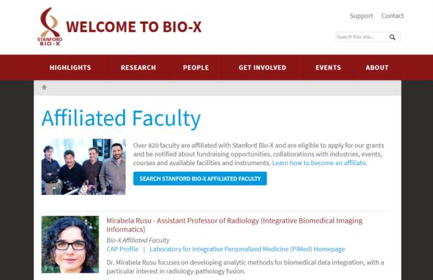 Bio-X Affiliation