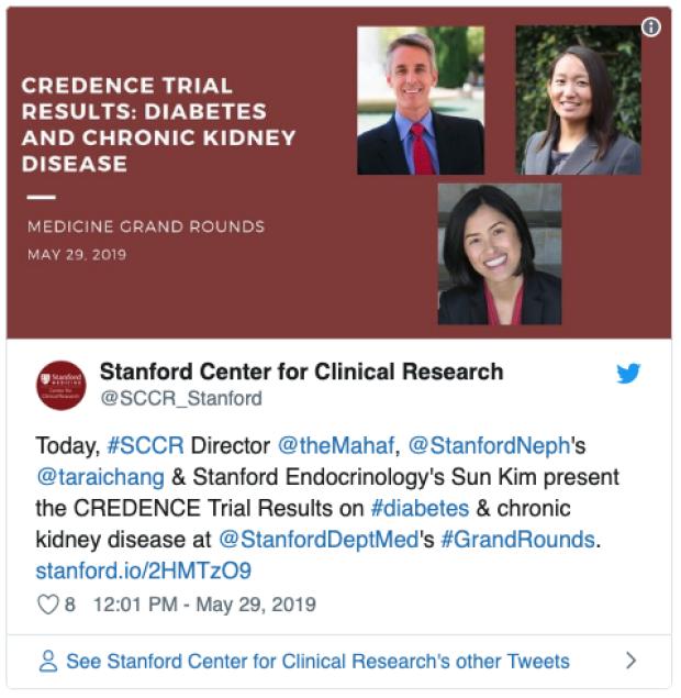 CREDENCE Trial Results tweet