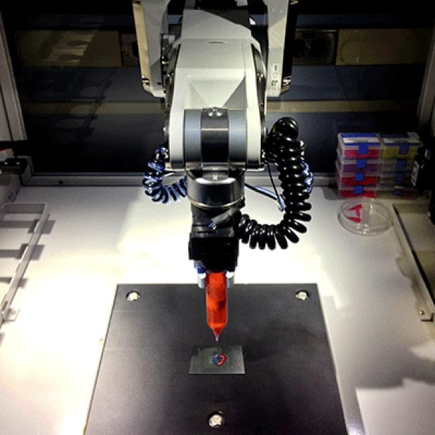 photo of BioAssemblyBot 3D bioprinter in lab
