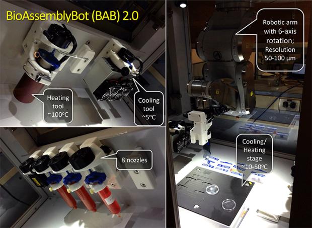 BioAssemblyBot (BAB 2.0) 3D bioprinter