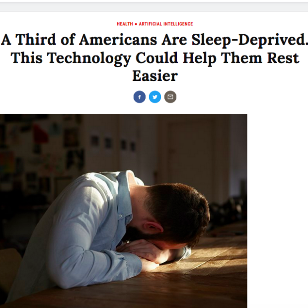 A third of Americans are sleep-deprived. This technology could help them rest easier