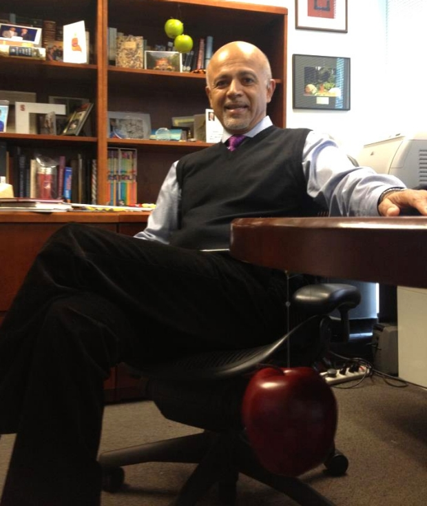 abraham verghese in his office