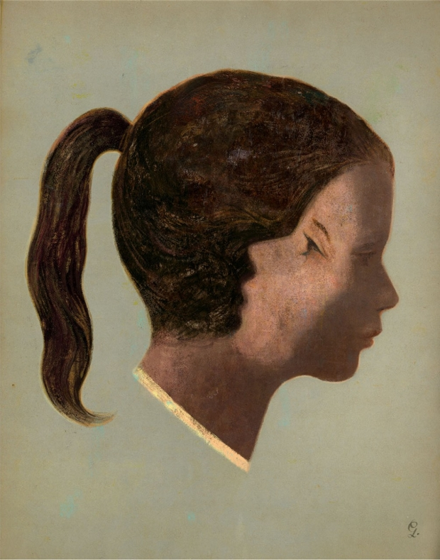 Illustration of a girl with two faces, one looking inward and one looking outward