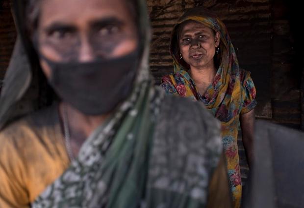 Working at a brick kilns in Bangladesh