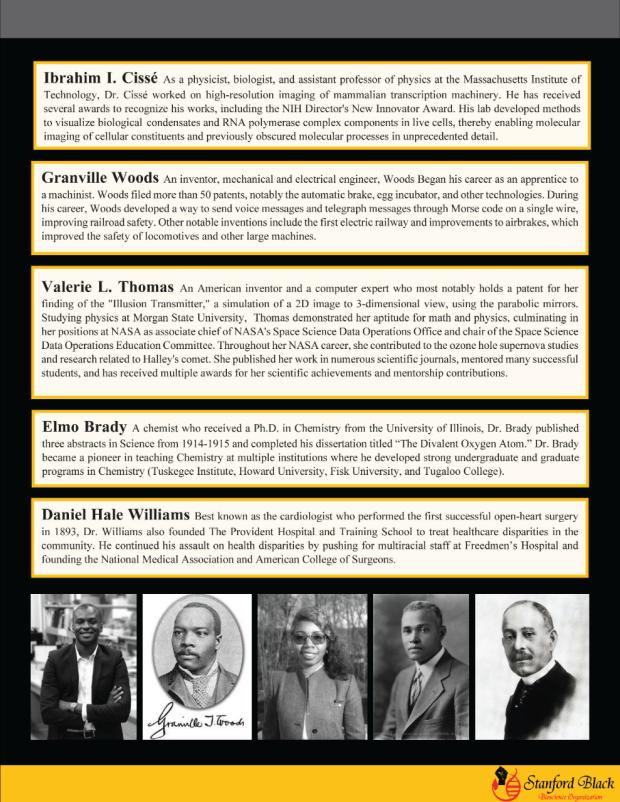 Celebrating black scientists newsletter 3
