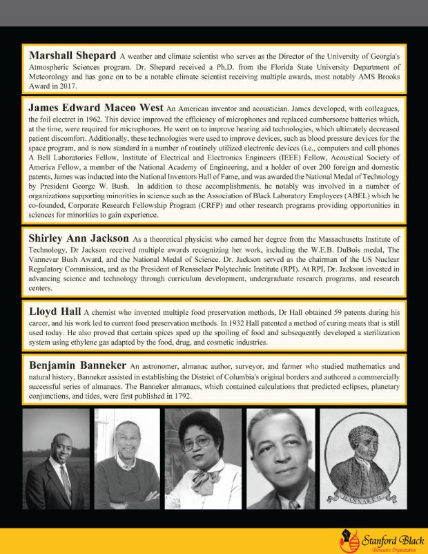 Celebrating black scientists newsletter 2