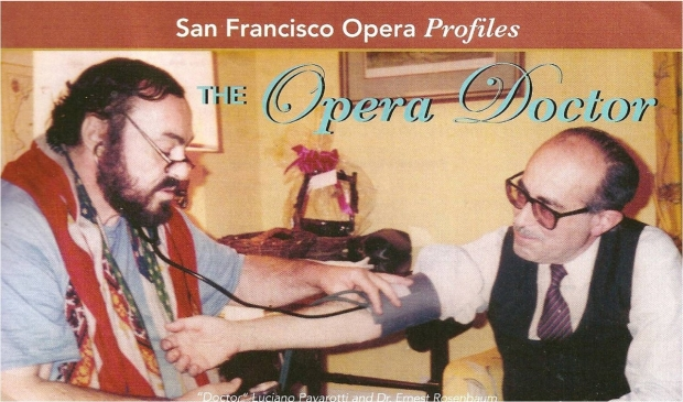 Luciano Pavarotti takes Dr. Rosenbaum