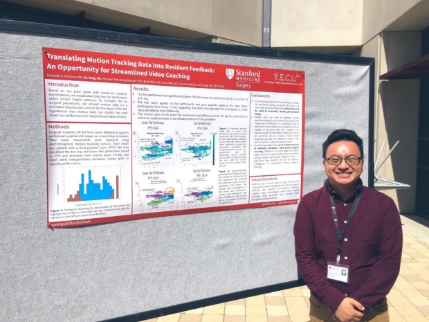 Su Yang at Stanford Medicine's Holman Research Day