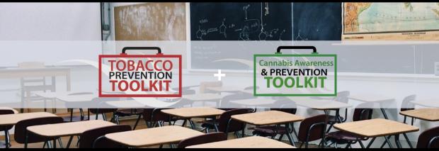 classroom with logo overlay