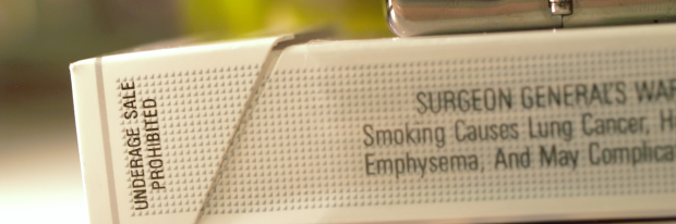 warning sign on a cigarette pack