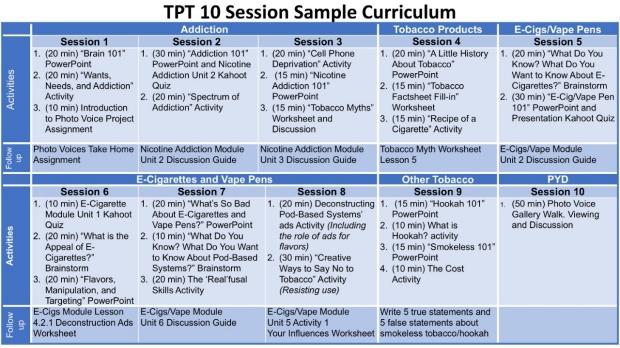 10 session calendar