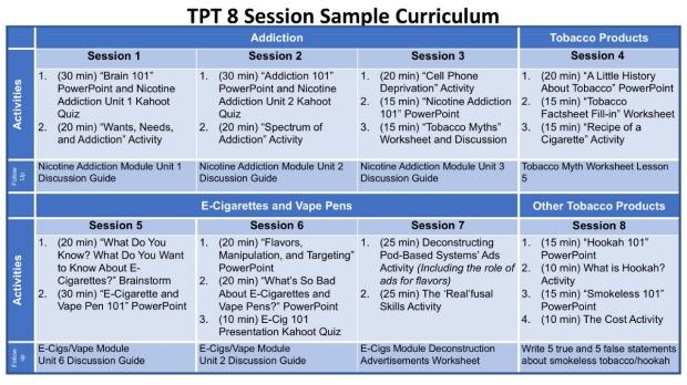 8 Session Calendar