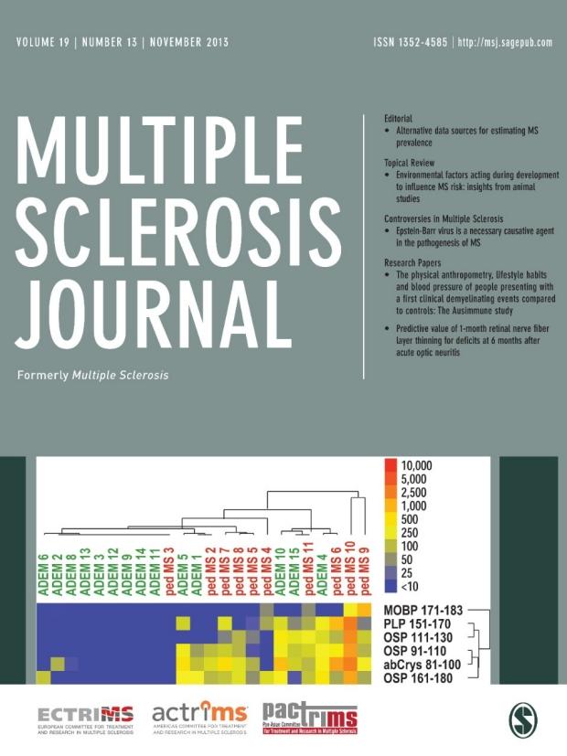 Multiple Sclerosis Journal Cover Van Haren Lab 2013