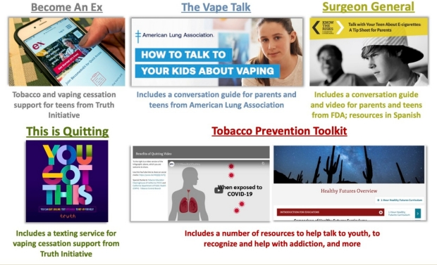 Resources for youth quitting