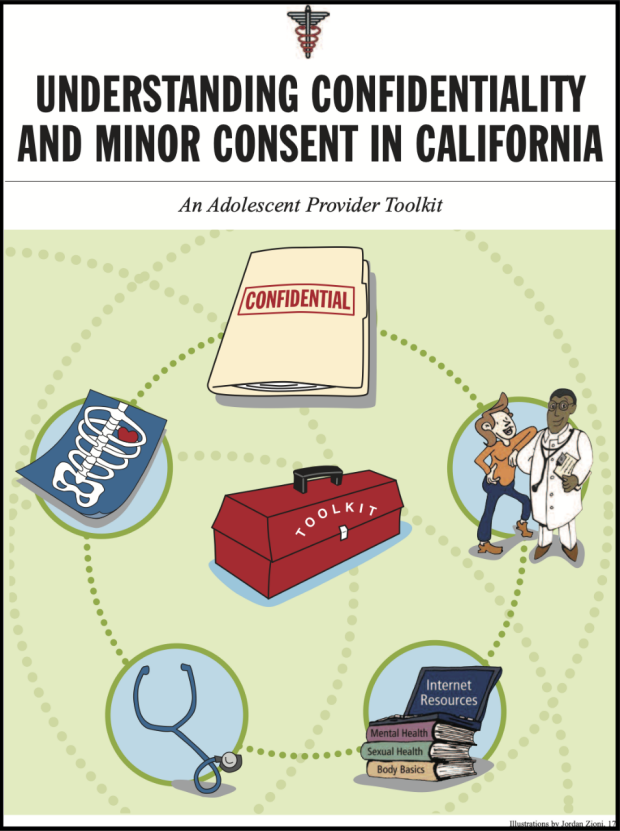 cover page to document with healthcare related clip art