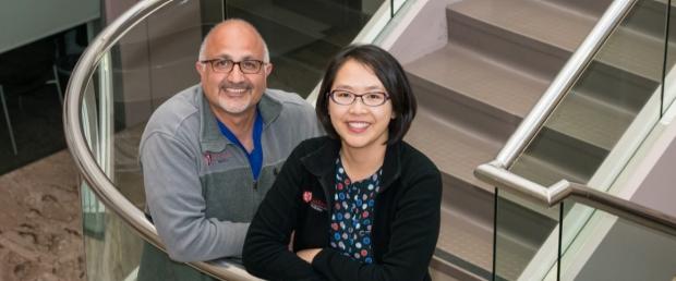 Dr Roham Zamanian and Juliana Liu,  RN, MSN, ANP-c