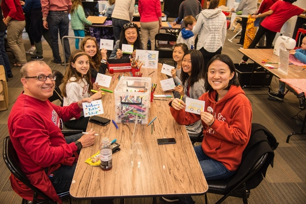 A group making cards