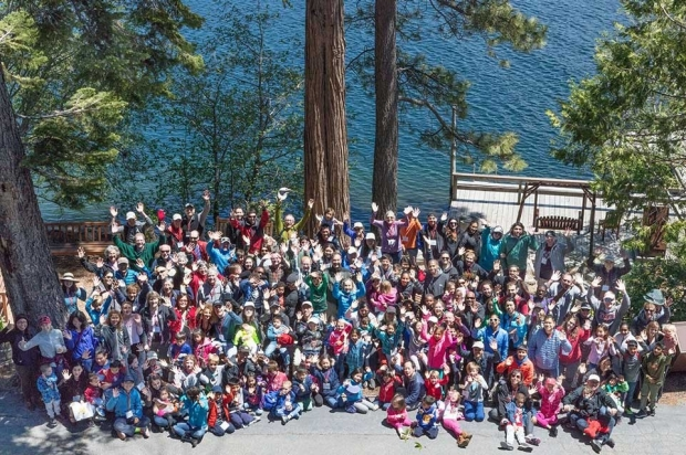 Overhead group photo of this year