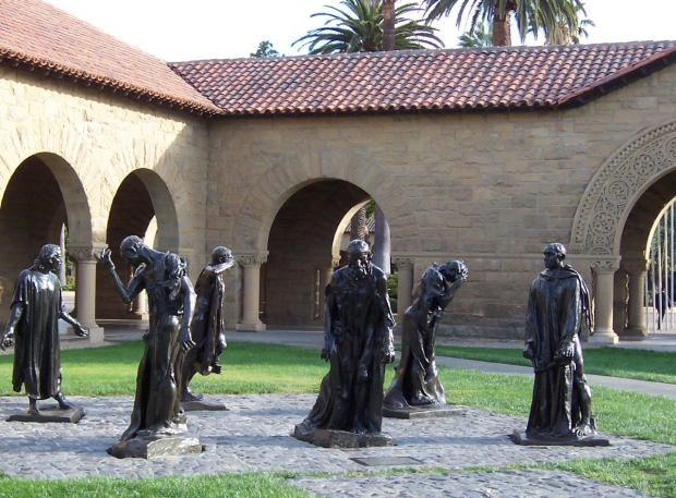Rodin sculptures in Main Quad