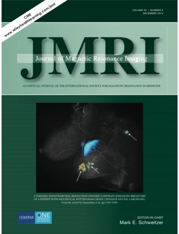 Dr. Manoj Saranathan's Article Featured on the JMRI cover
