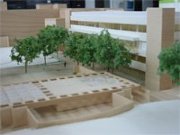 Photo of the CNSI building model