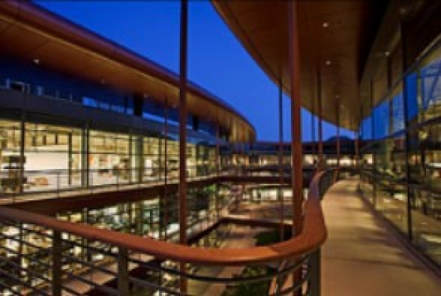 Photo of the James Clark Center at Stanford