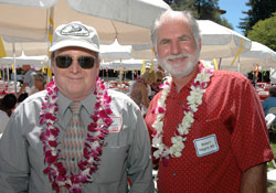 David Occhipinti (left) with Robert Negrin, MD, at the 19th anniversary of Stanford's Blood and Marrow Transplant program