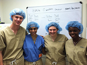 Medical students volunteering at reservation