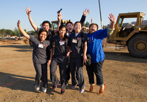 Stanford Hospital intermediate intensive Staff at groundbreaking celebration