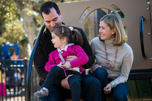 Matt and Kristen Wilsey with Grace, their 4-year-old daughter