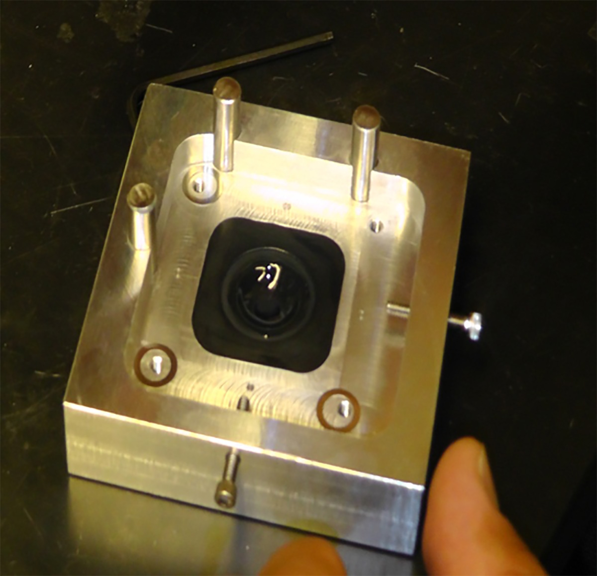 The company's first lens mold.