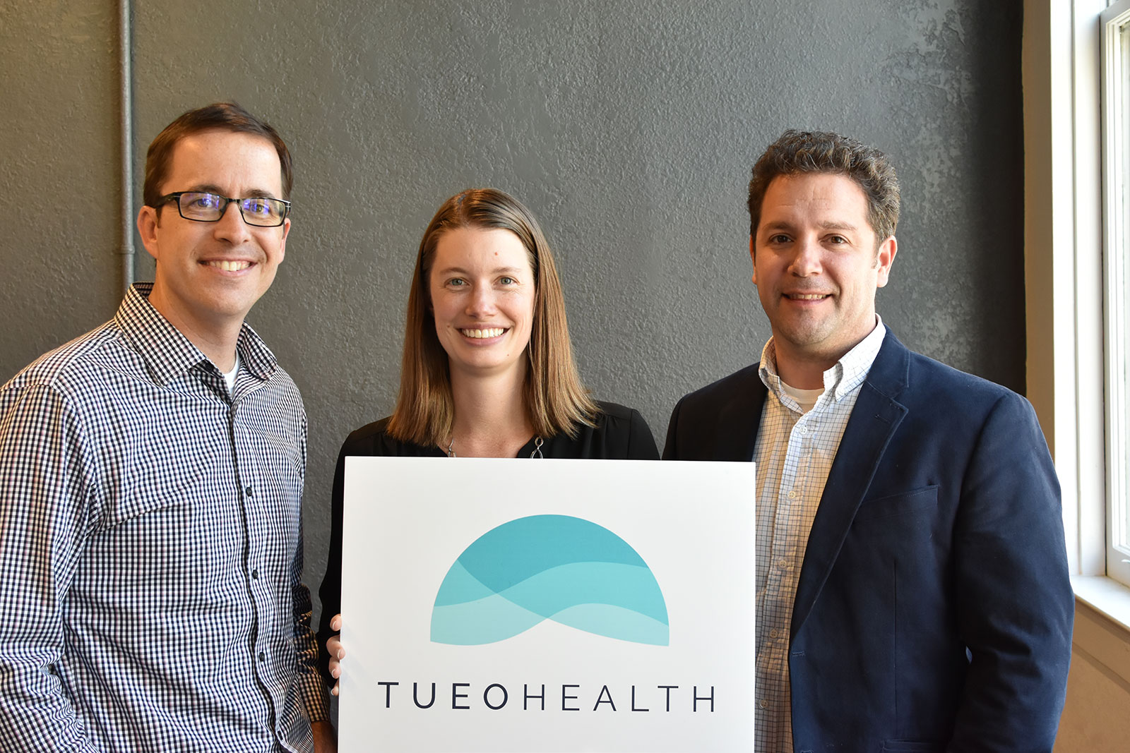 Todd Murphy, Bronwyn Harris, and Michael Carchia of Tueo Health.